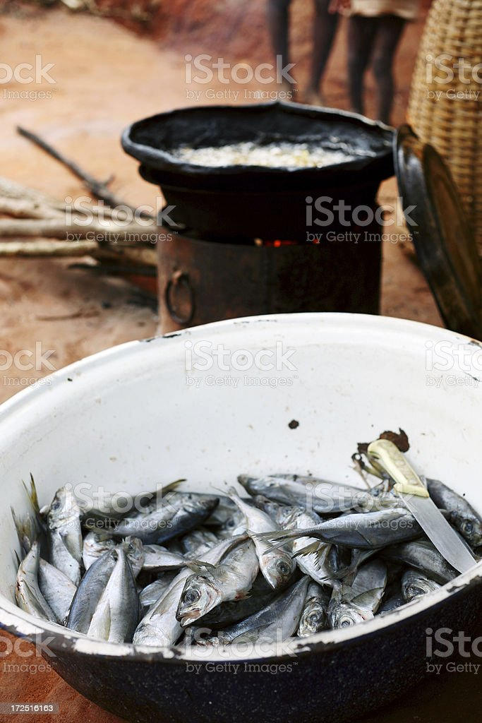 cooking african food royalty-free stock photo