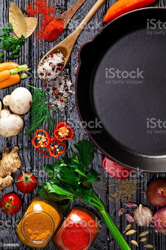 Cooking and seasoning ingredients stock photo