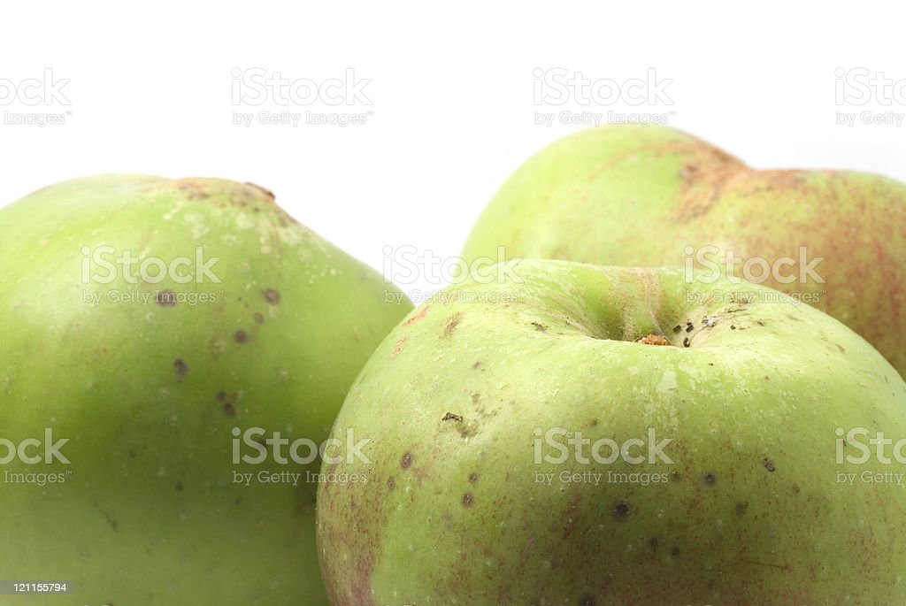 Cooking Apples close up stock photo