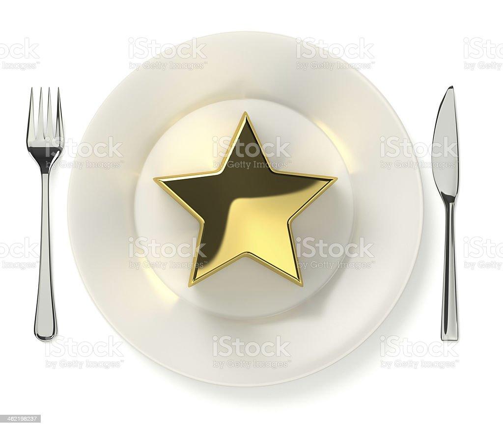 Cooking award figurative image stock photo