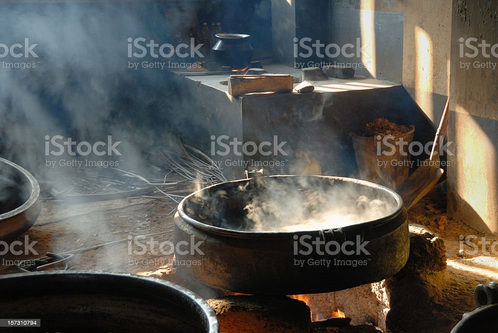 cooking ayurvedic medicine stock photo