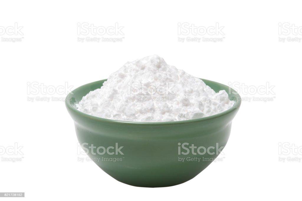Cooking casabe (bammy, beiju, bob, biju) - flatbread made from cassava (tapioca) on white background stock photo