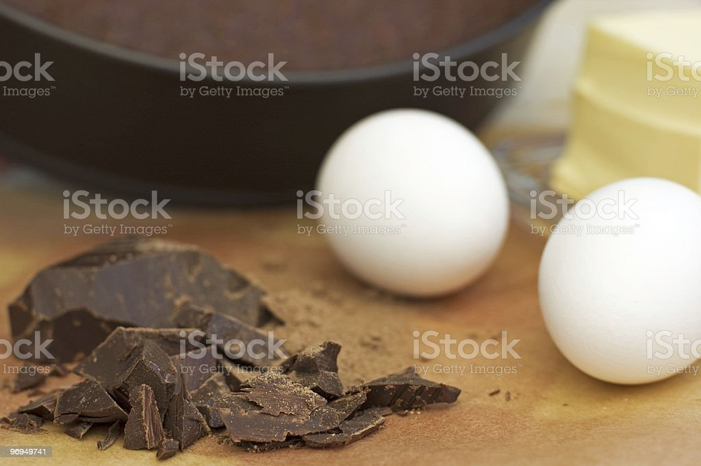 cooking chocolate cake stock photo