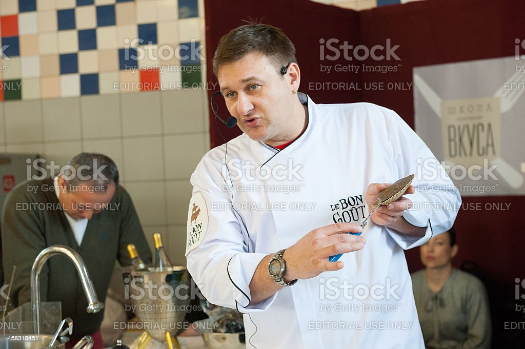 "Cooking class ""Taste Lesson number 5: Seafood"" royalty-free stock photo"