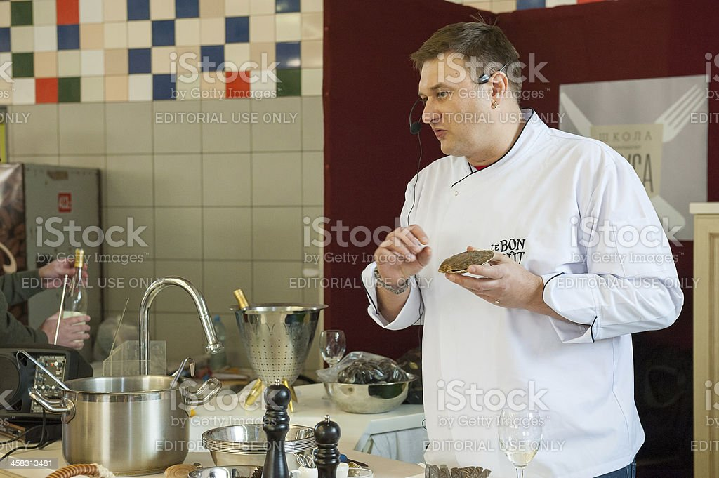 """Cooking class """"Taste Lesson number 5: Seafood"""" royalty-free stock photo"""