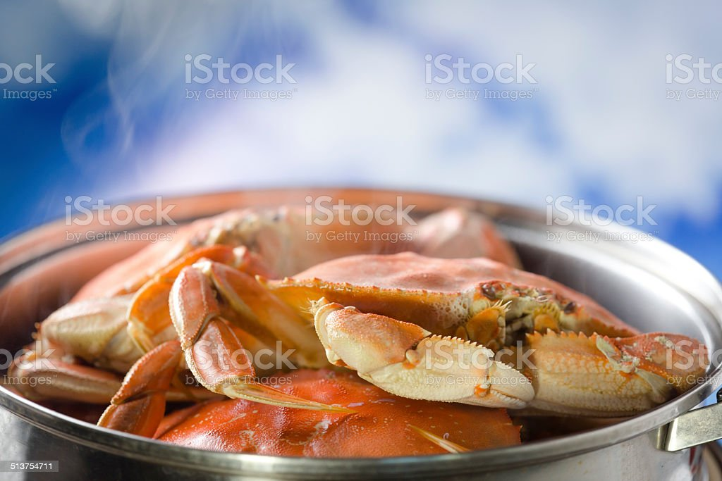 Cooking Crab stock photo