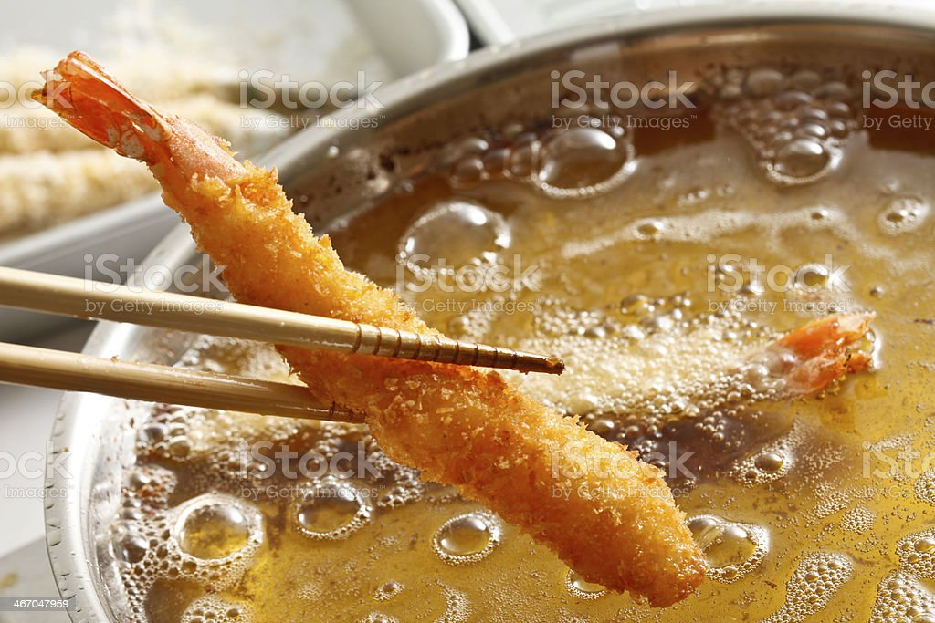 Cooking, deep fry stock photo