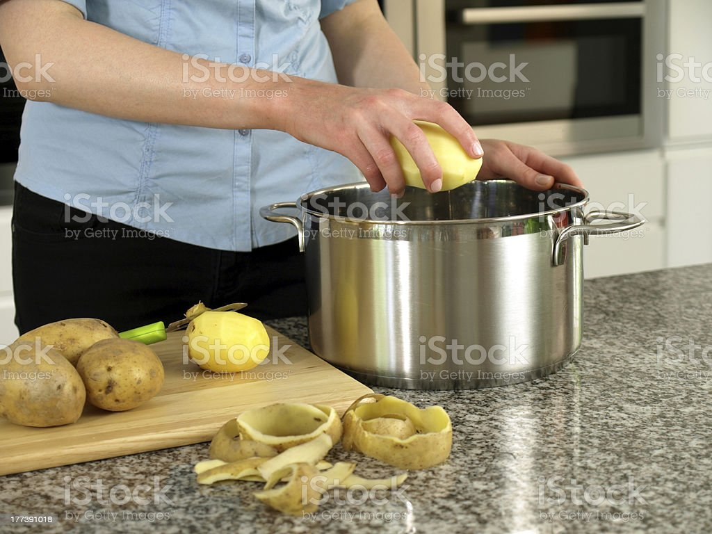 Cooking dinner royalty-free stock photo