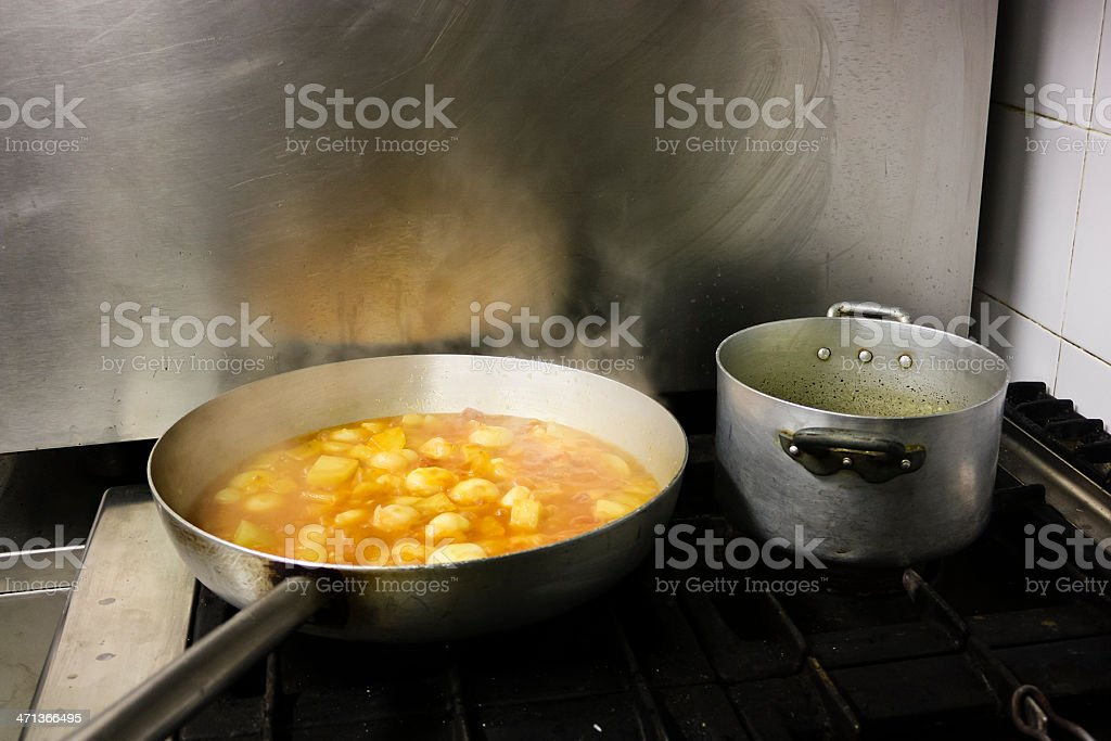 cooking dinner stock photo