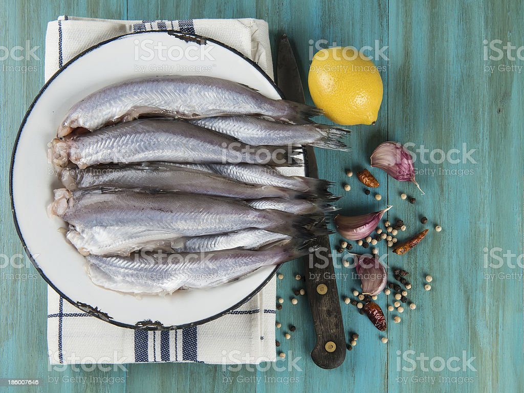 Cooking fish stock photo