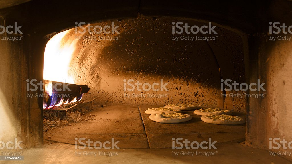 Cooking Focaccia royalty-free stock photo