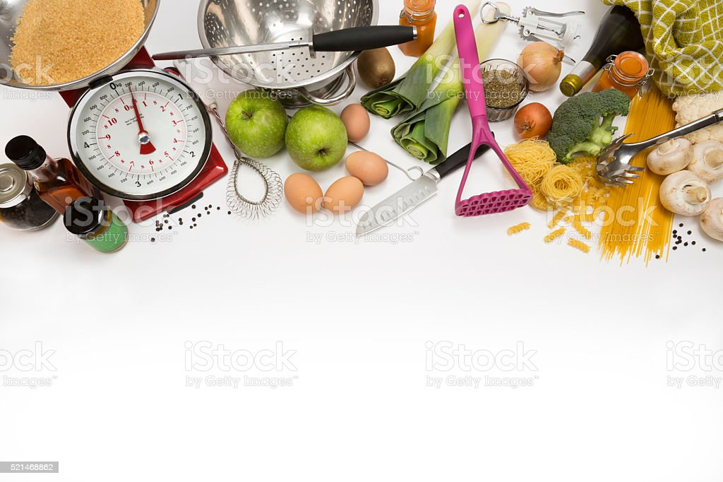 Cooking - Food - Kitchen - Space for Text stock photo