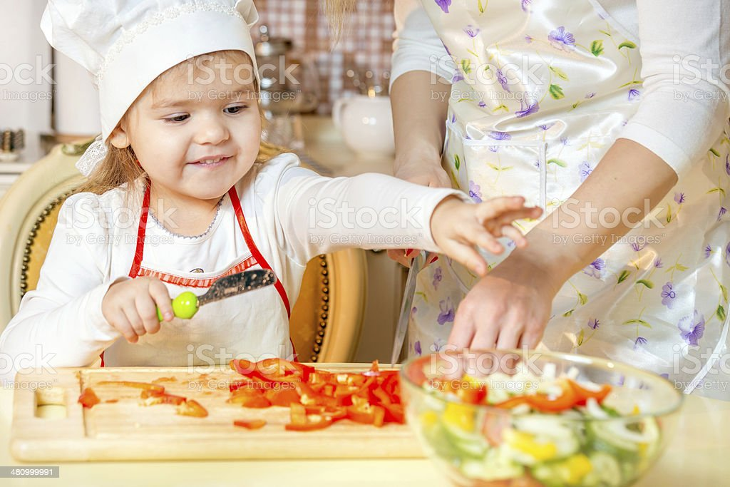 Cooking for family royalty-free stock photo