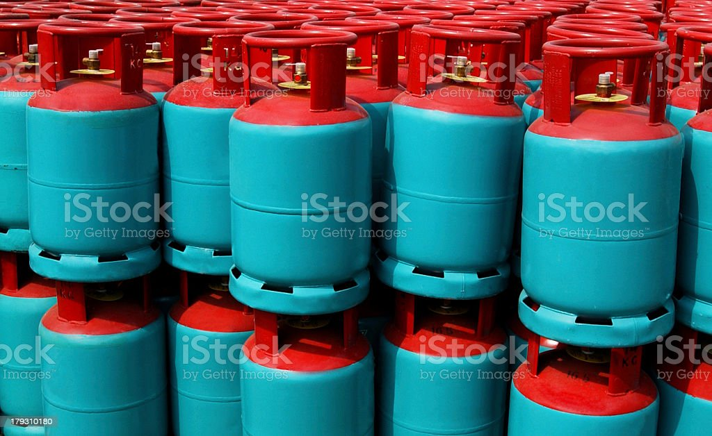 Cooking Gas Cylinders stock photo