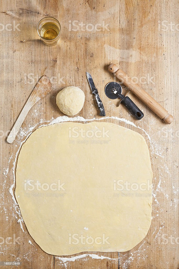 Cooking hand made pasta royalty-free stock photo