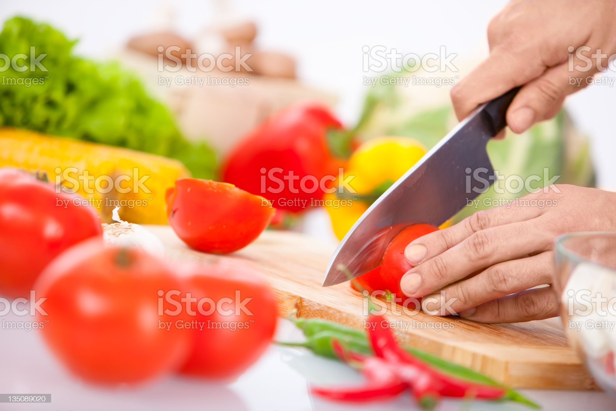 Cooking hands royalty-free stock photo