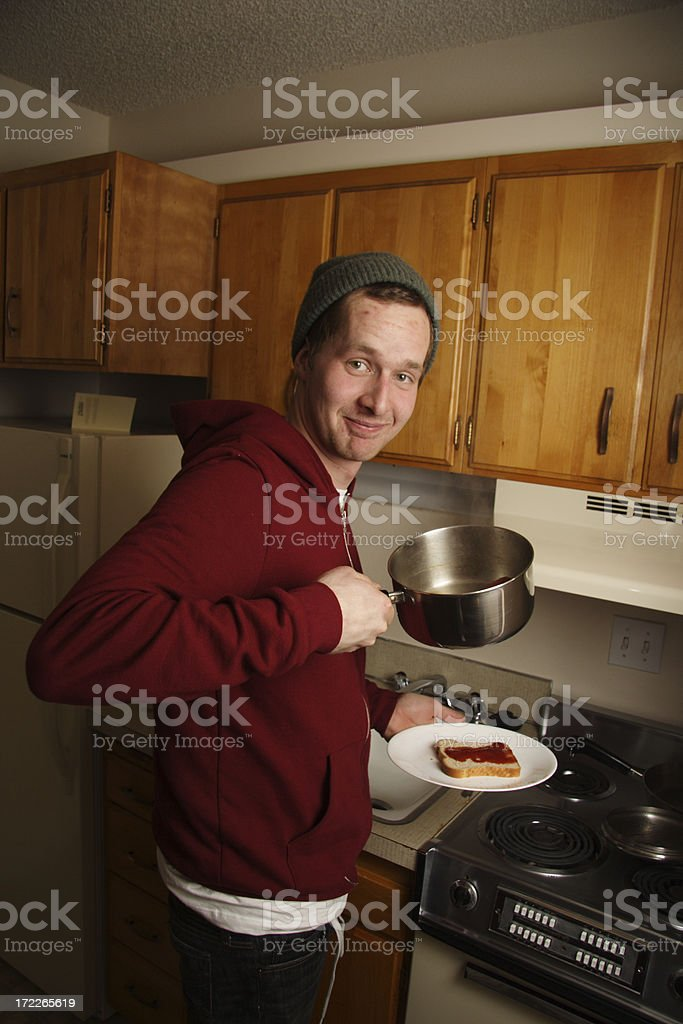 cooking hot dogs royalty-free stock photo
