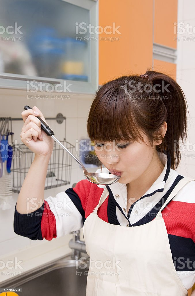cooking in the kitchen royalty-free stock photo