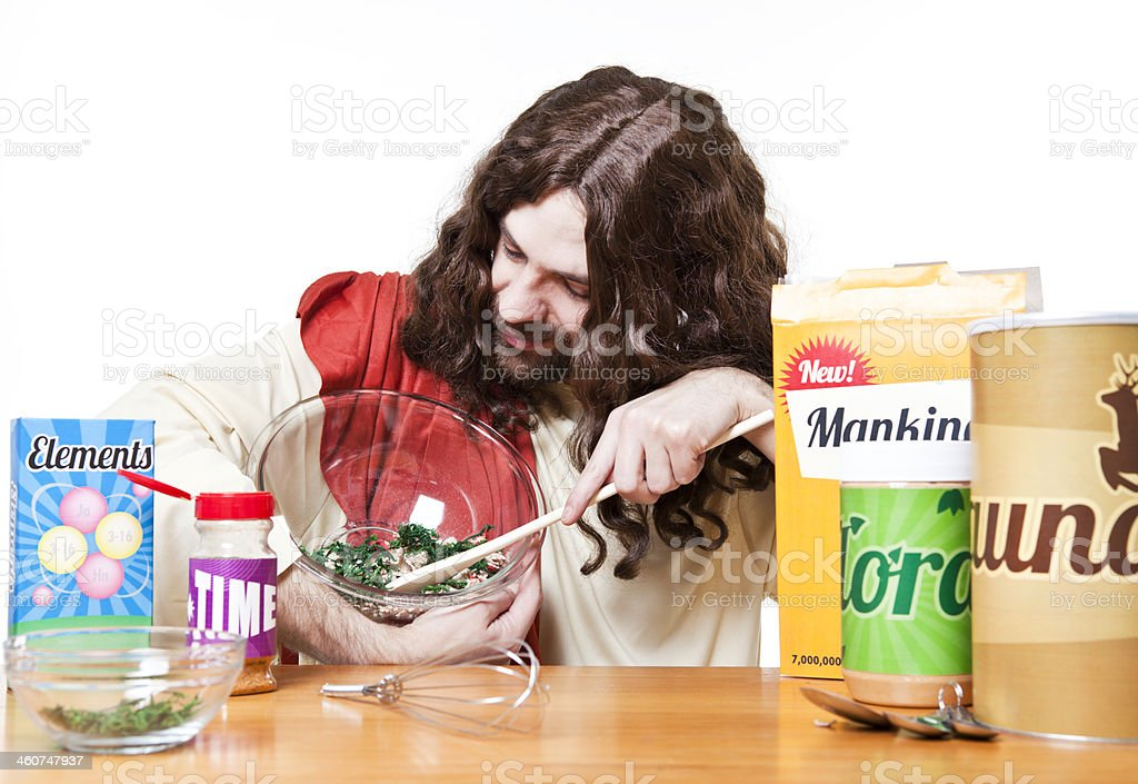 Cooking in the Kitchen with Jesus royalty-free stock photo