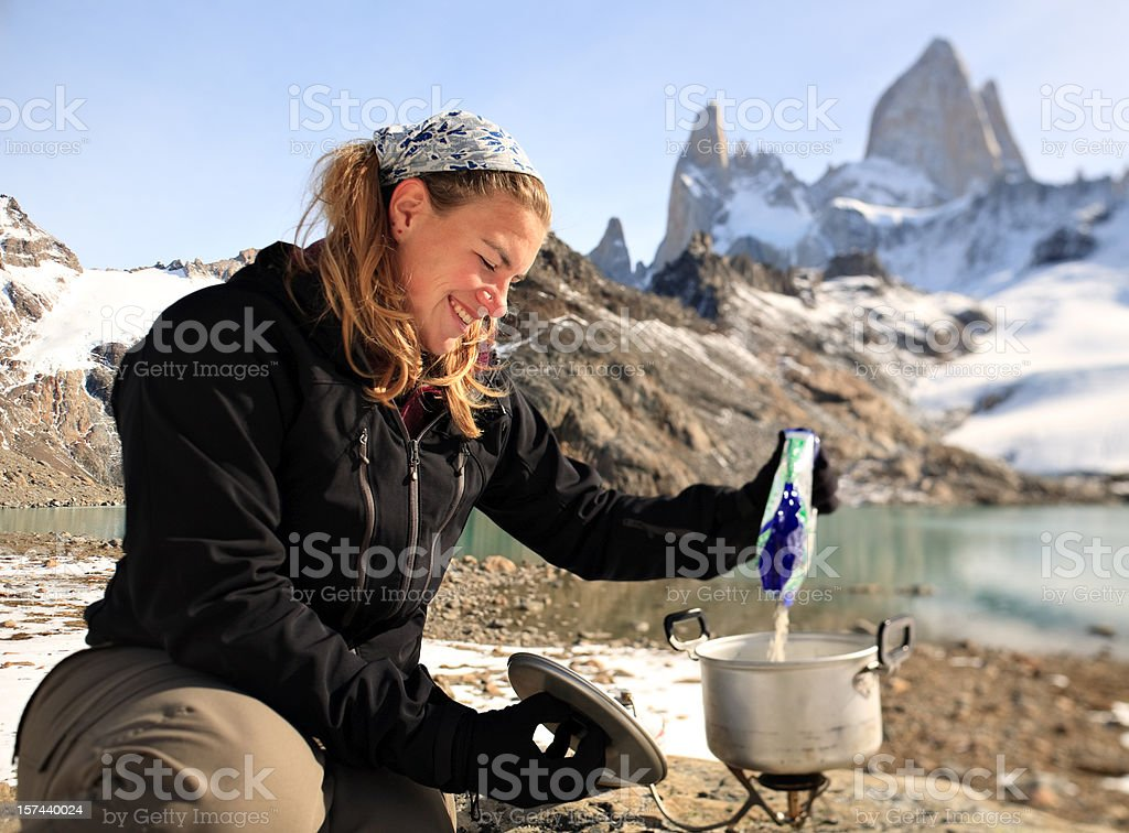 Cooking in the Mountains royalty-free stock photo