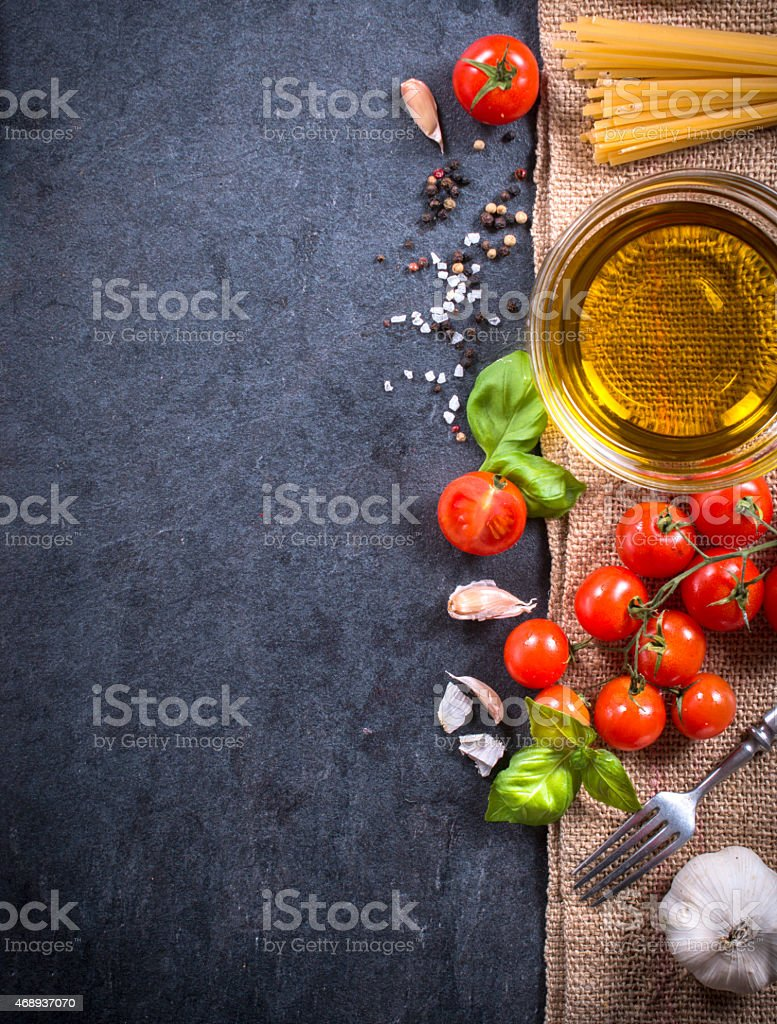 Cooking ingredients stock photo