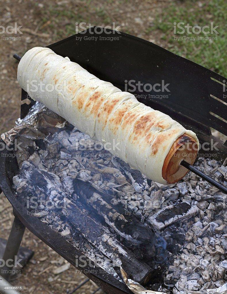 cooking kurtos kalacs stock photo