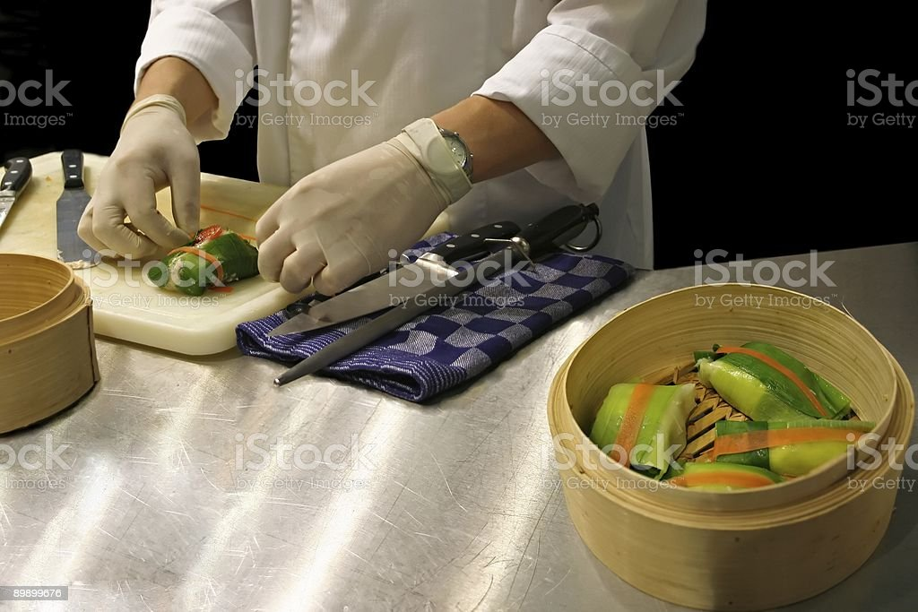 cooking lesson royalty-free stock photo
