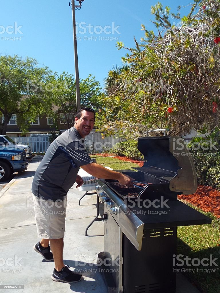 Cooking lunch for the troops stock photo