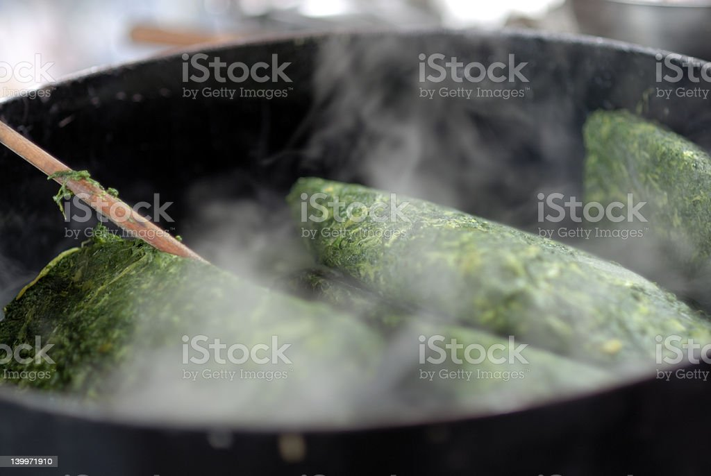 Cooking Mangold royalty-free stock photo