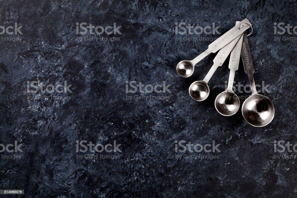 Cooking measure spoon set stock photo