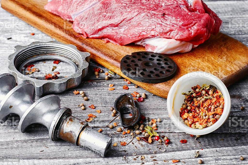 Cooking meat dish stock photo