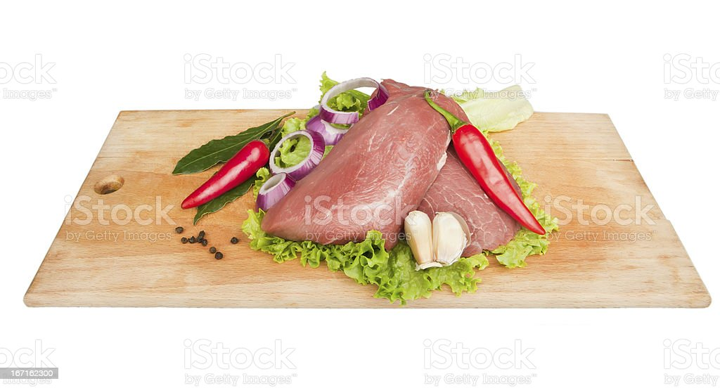 cooking meat royalty-free stock photo