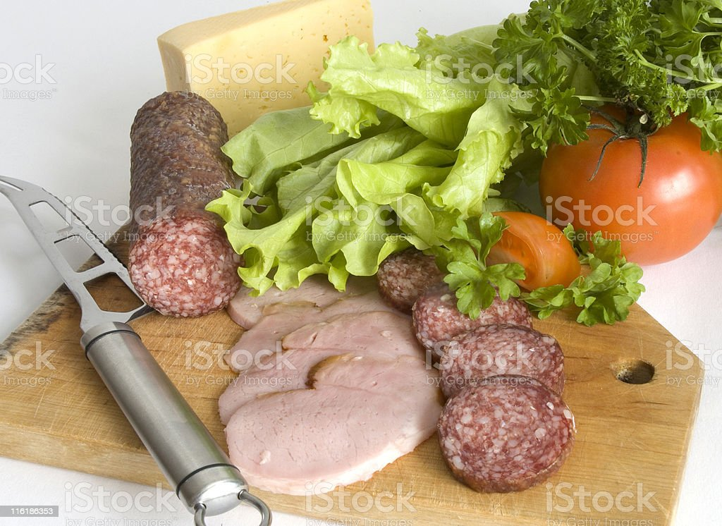 Cooking of a sandwich royalty-free stock photo