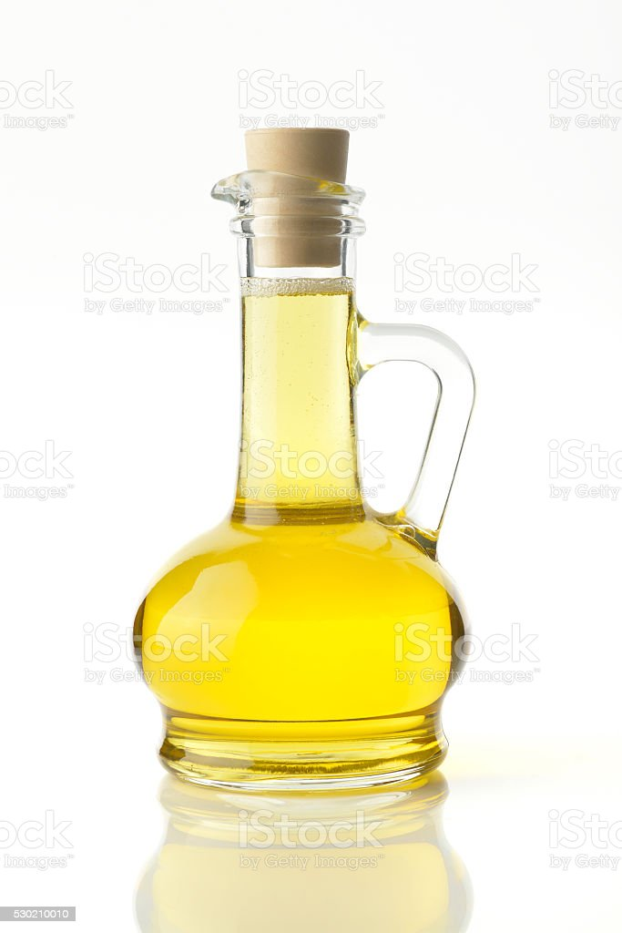 Cooking Oil on White Background stock photo