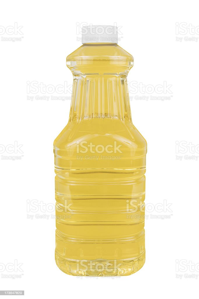 Cooking Oil with Clipping Path stock photo