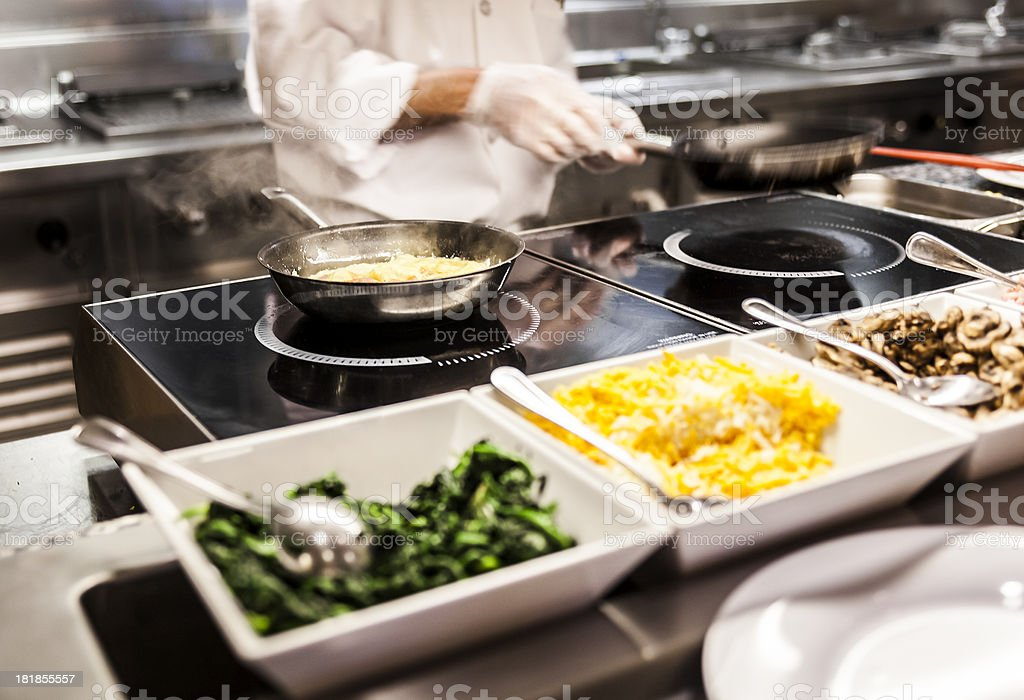 Cooking Omelet stock photo