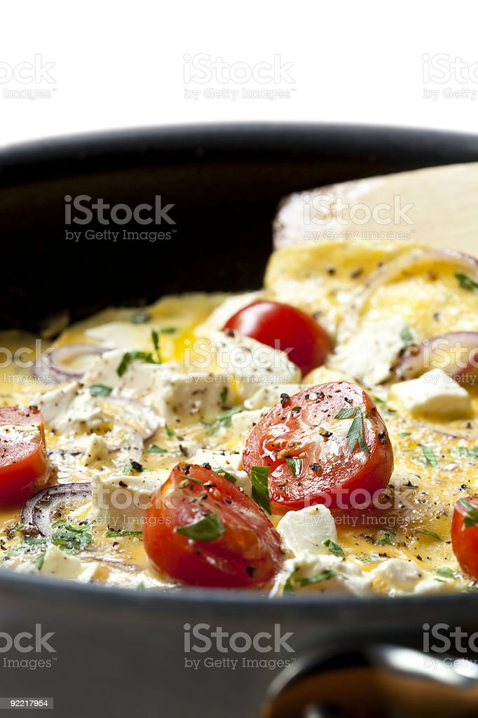 Cooking Omelet royalty-free stock photo