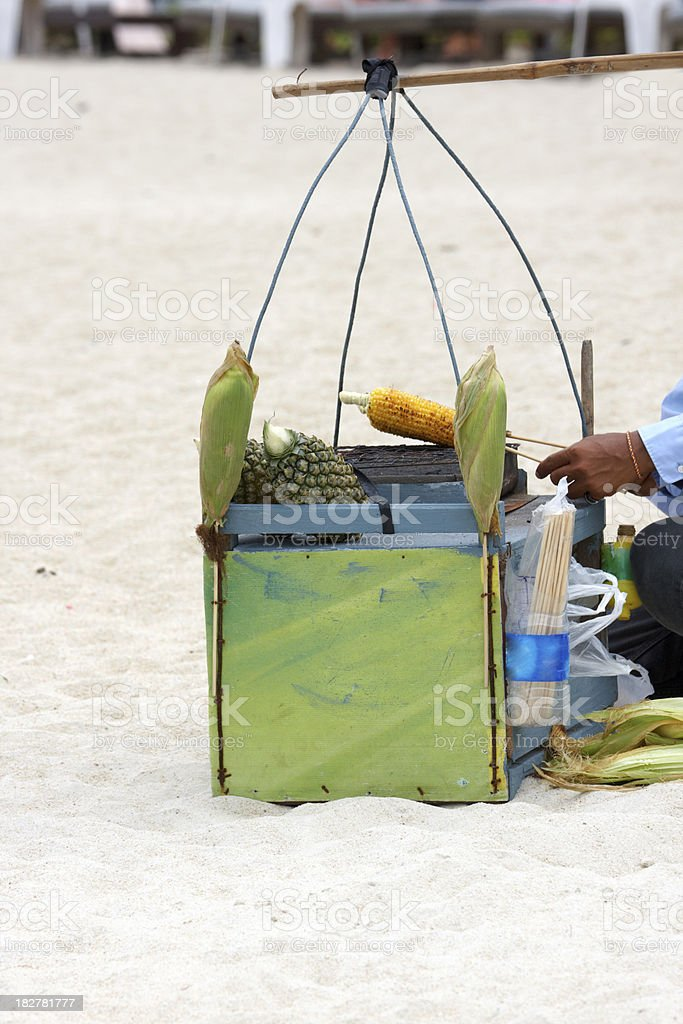 cooking on the beach, thailand royalty-free stock photo