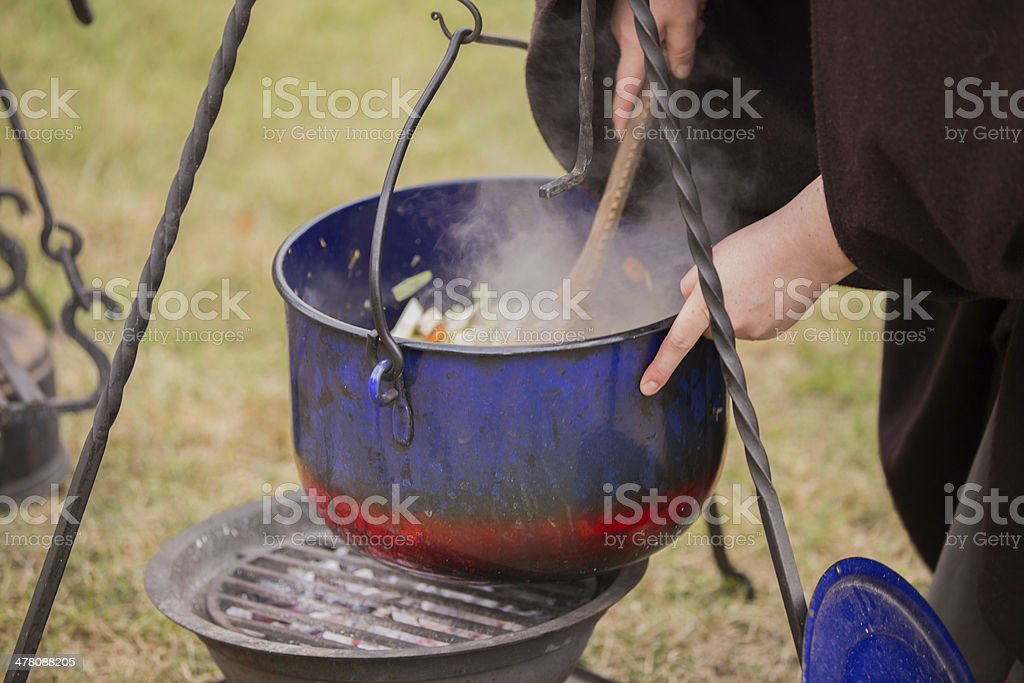 cooking outdoor royalty-free stock photo