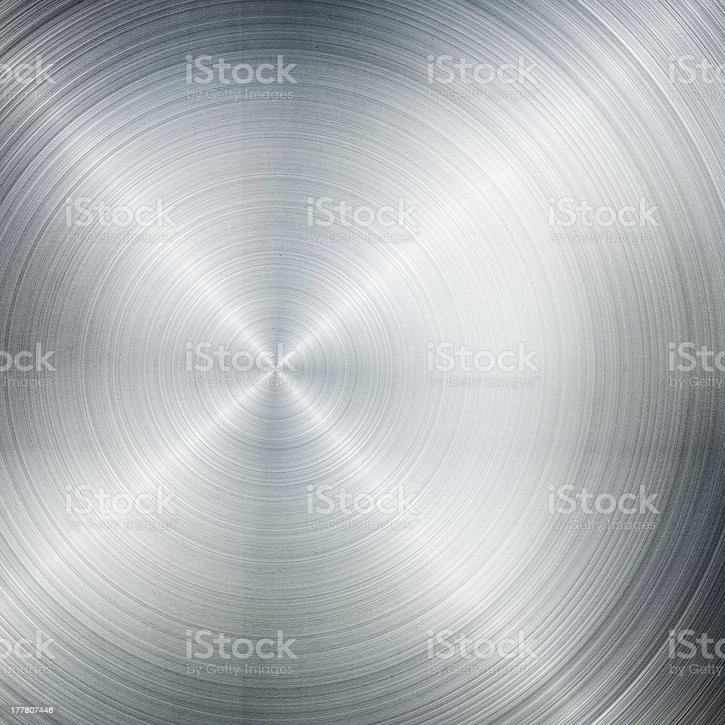 A cooking pan made out of brush metal  stock photo