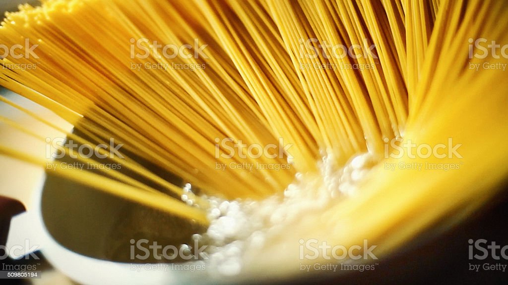 Cooking pasta. stock photo