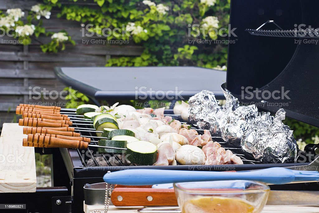 BBQ Cooking royalty-free stock photo