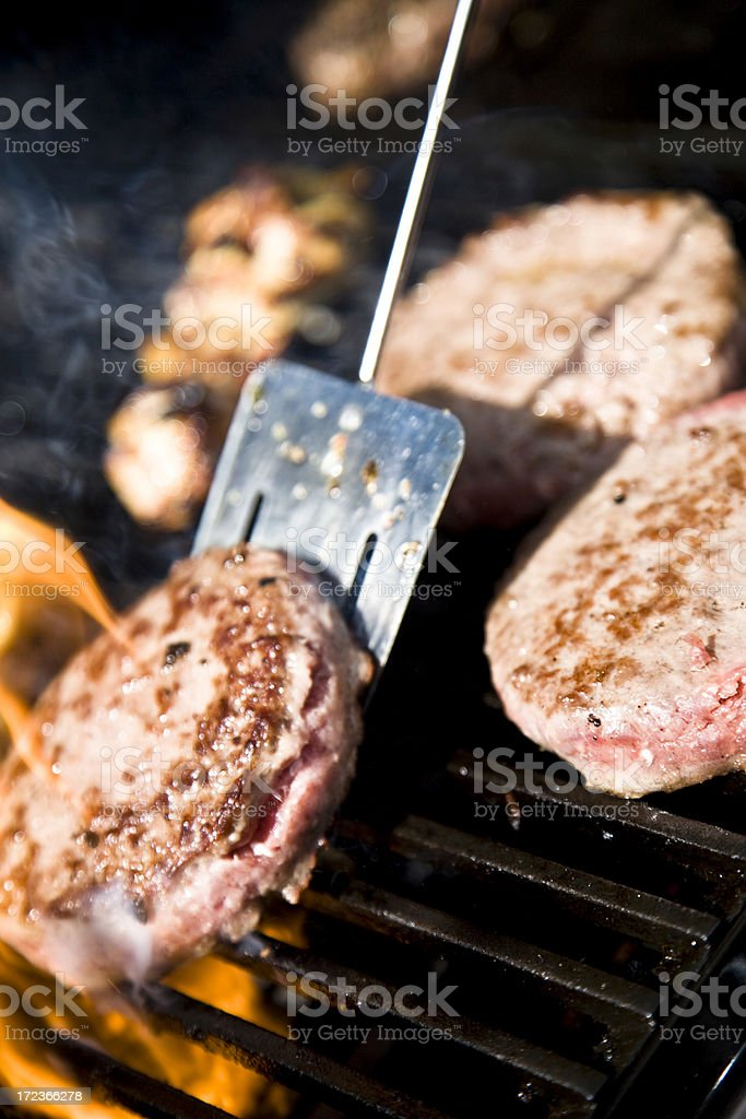 BBQ cooking stock photo