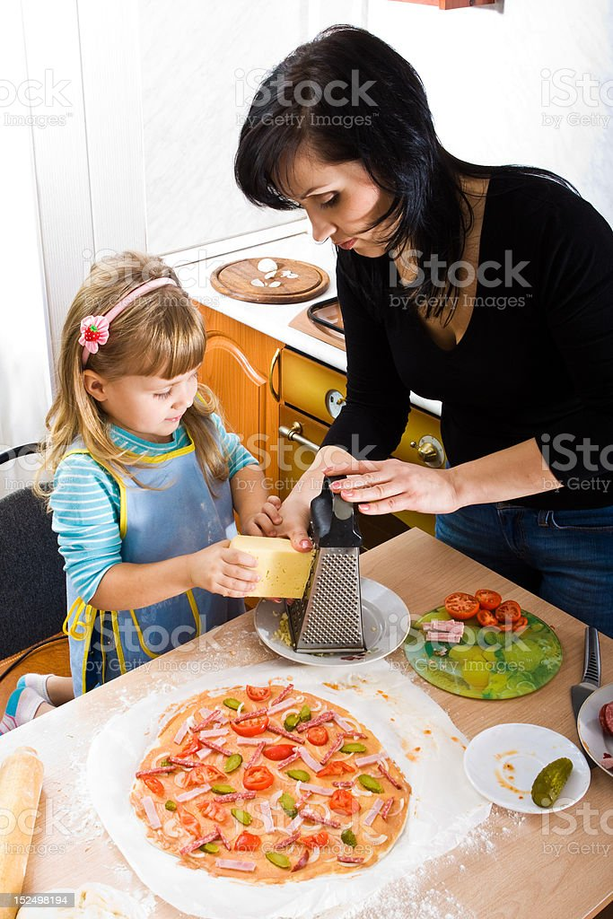 Cooking pizza royalty-free stock photo