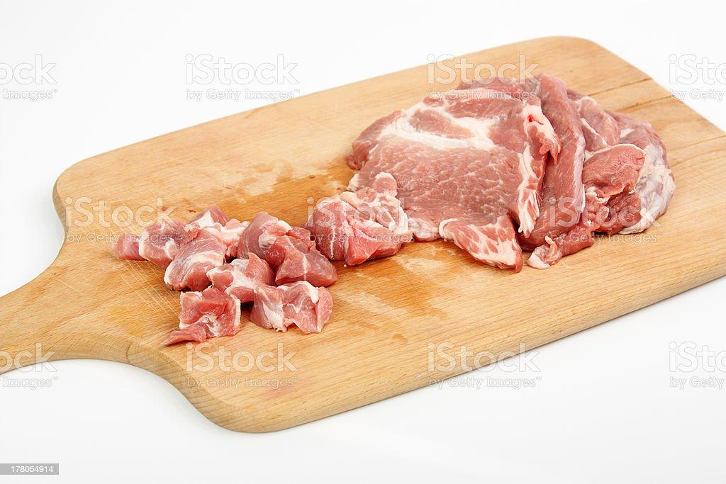 Cooking Pork royalty-free stock photo