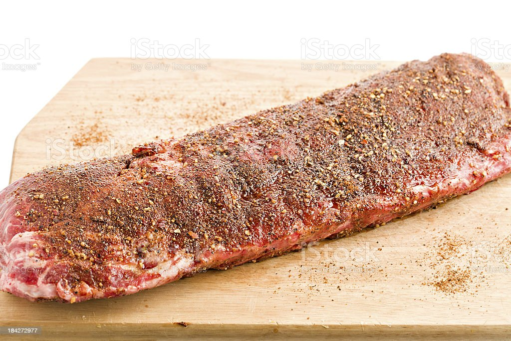 Cooking Pork Ribs stock photo
