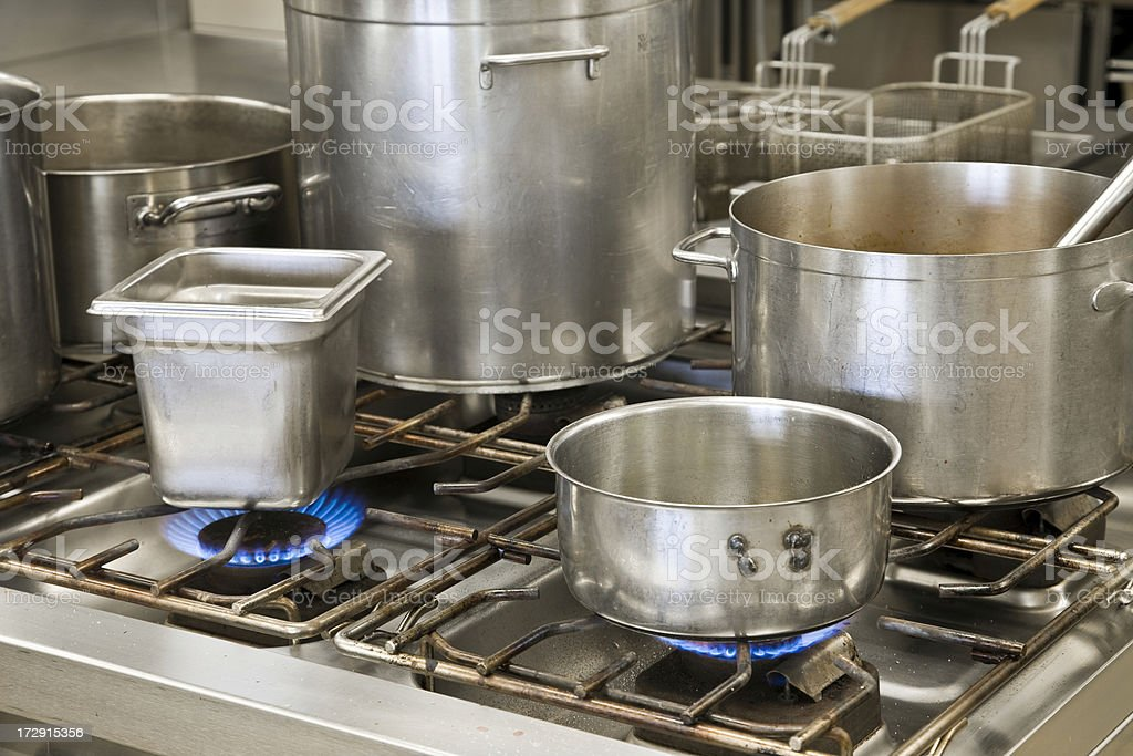 cooking pots royalty-free stock photo