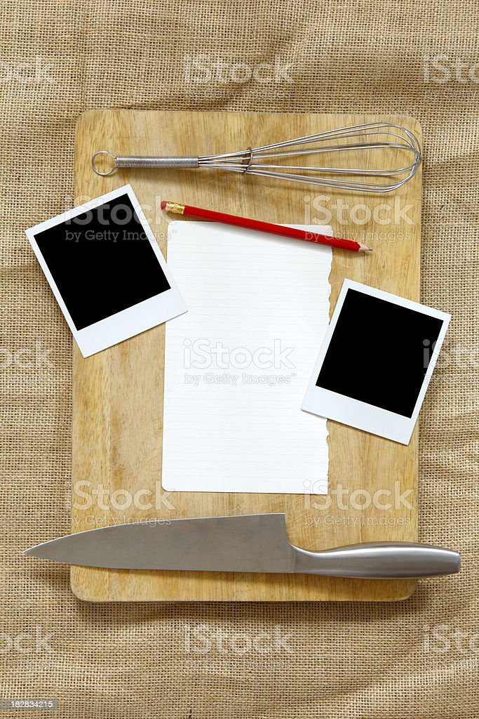 Cooking recipe background royalty-free stock photo
