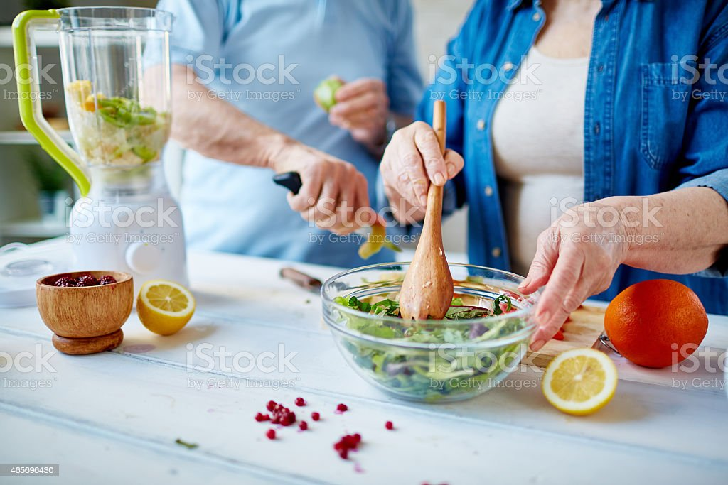 Cooking salad stock photo