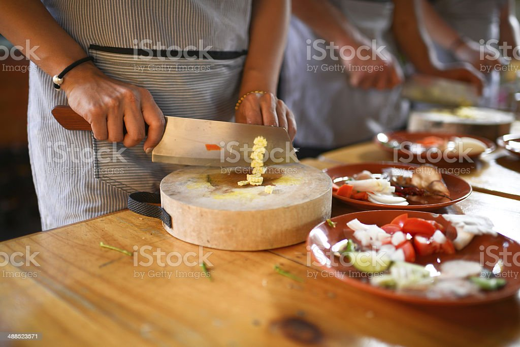 Cooking School stock photo